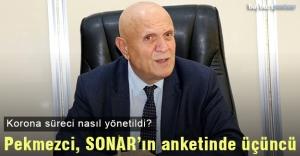 Başkan Pekmezci, SONAR#039;ın anketinde...