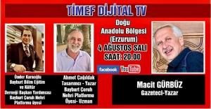 BAYBURT ÇORUH NEHRİ PLATFORMU ÜYELERİ TİMEF DİJİTAL TV'NİN KONUĞU OLACAK...