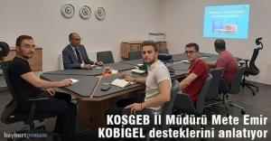 KOSGEB İl Müdürü Emir, 'KOBİGEL' desteklerini anlatıyor