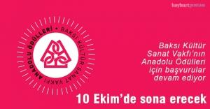 """""""Anadolu Ödülleri""""ne başvuru için son 1 ay"""
