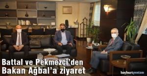 Battal ve Pekmezci'den Ağbal'a ziyaret