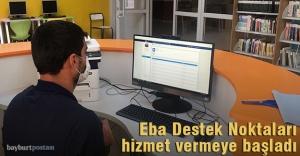Bayburt'ta 67 adet Eba Destek Noktası kuruldu