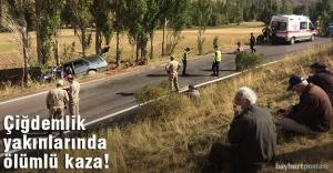 Çiğdemlik yakınlarında kaza: 1...