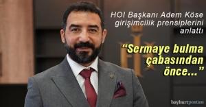 HOI Başkanı Köse, gençlere girişimcilik prensiplerini anlattı