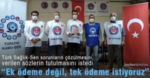 """Türk Sağlık-Sen: """"Ek ödeme değil tek ödeme istiyoruz"""""""