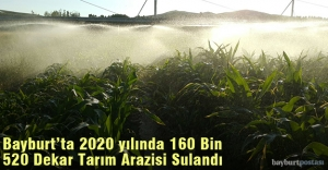 Bayburt'ta 160 Bin 520 Dekar Tarım Arazisi Sulandı