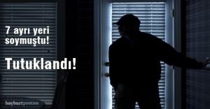 7 ayrı hırsızlık olayını gerçekleştiren...