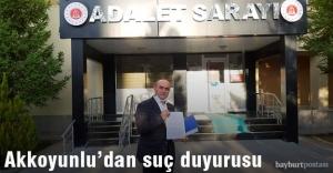 Akkoyunlu'dan Dr. Hancı hakkında suç duyurusu