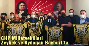 CHP Milletvekilleri Zeybek ve Aydoğan Bayburt'ta