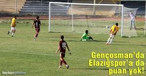 Gençosman'da Elazığspor'a da puan yok!