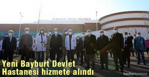 200 yataklı Yeni Bayburt Devlet Hastanesi hizmete alındı