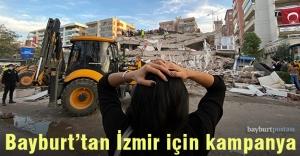 Bayburt'tan İzmir için yardım kampanyası