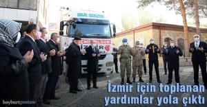 İzmir için toplanan yardımlar yola çıktı