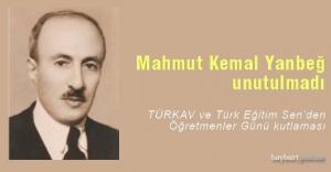 TÜRKAV ve Türk Eğitim-Sen Mahmut Kemal Yanbeğ'i andı