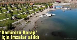 Demirözü Barajı Sosyal Tesisi Çevre Düzenleme Projesinde İmzalar Atıldı
