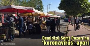 Demirözü halk pazarına 'korona' ayarı
