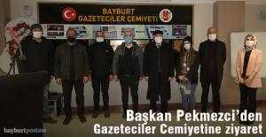 Başkan Pekmezci'den Bayburt Gazeteciler Cemiyeti'ne ziyaret