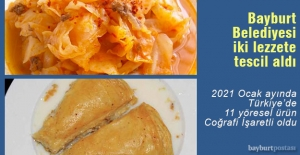 Bayburt Belediyesi, Süt Böreği ve Ekşi Lahana'ya tescil aldı