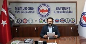 """Bayburt Memur-Sen: """"Gelirde adalet için seyyanen zam yapılmalı"""""""