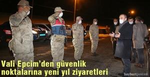 Vali Epcim, güvenlik güçlerine yeni yıl ziyareti