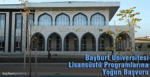 Bayburt Üniversitesi Lisansüstü Programlarına Yoğun İlgi