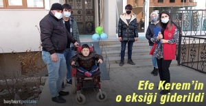 Efe Kerem'in Engelli Rampası teslim edildi