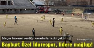 Bayburt Özel İdarespor, evinde lider Eyüpspor'a yenildi!