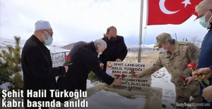 Şehit Halil Türkoğlu, kabri başında anıldı
