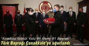 Türk Bayrağı Çanakkale'ye ulaştırılmak üzere Bayburt'tan uğurlandı