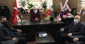 Başkan Polat'tan Gazeteciler Cemiyetine ziyaret