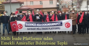 Bayburt Milli İrade Platformu'ndan Emekli Amirallerin Bildirisine Tepki