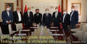 Bayburt Özel İdarespor'da başkan değişti, Hakan Yılmaz Hoca ile yola devam