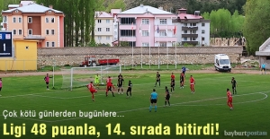 Bayburt Özel İdarespor, ligi 48 puanla 14. sırada tamamladı