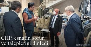 CHP, Bayburt#039;ta esnafın sorun...
