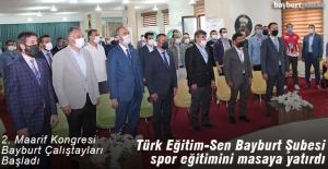 2. Maarif Kongresi kapsamında Bayburt'ta 'Spor Eğitimi Çalıştayı'