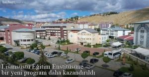 Bayburt Üniversitesi'nde Antrenörlük Eğitimi Tezli Yüksek Lisans Programı