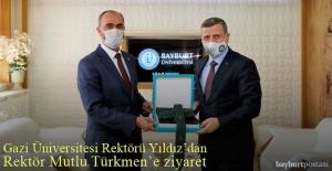 Prof. Yıldız'dan, Rektör Türkmen'e Ziyaret