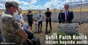 Şahit Fatih Kostik, mezarı başında anıldı