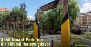 Şehit Nusret Parkı'nın yarısı 5 yıllığına kiraya verilecek