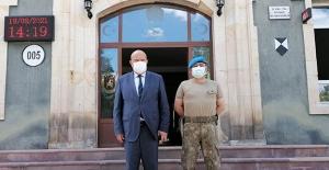 Başkan Pekmezci'den Garnizon Komutanı Tosun'a ziyaret