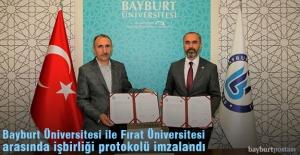 Bayburt Üniversitesi ile Fırat Üniversitesi Arasında İş Birliği Protokolü İmzalandı