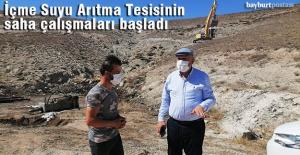 Bayburt'ta İçme Suyu Arıtma Tesisinin Saha Çalışmaları Başladı
