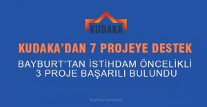 KUDAKA'dan 7 proje destek gördü, 3'ü Bayburt'tan