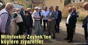 Milletvekili Gökhan Zeybek'ten Bayburt'ta köy ziyaretleri