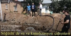 Söğütlü köyünde su ve kanalizasyon çalışması