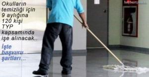 Bayburt#039;ta okulların temizliği...