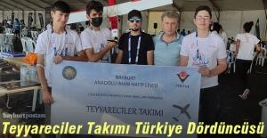 Bayburt, TEKNOFEST İHA Yarışması'nda Türkiye Dördüncüsü