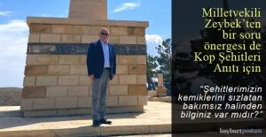 Milletvekili Zeybek'ten Kop Şehitleri Anıtı ile ilgili soru önergesi