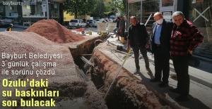 Ozulu caddesindeki su baskınları sona erecek
