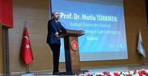 Rektör Türkmen, Ankara'da Beden Eğitimi ve Spor Çalıştayı'na katıldı